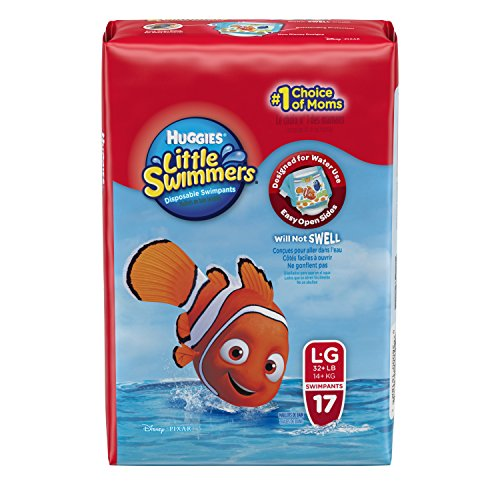Huggies Little Swimmers Disposable Swimpants, Large, 17 Count (Character May Vary) - 1