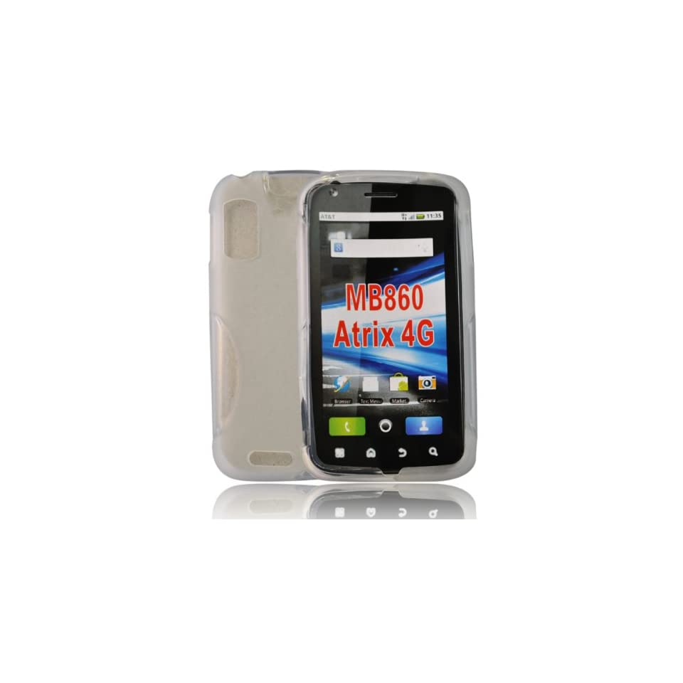 mobile palace  white gel case cover pouch holster for Motorola Atrix mb860