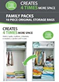 B&E Home Essential Vacuum Storage Bags - Set of 10 (2 Jumbo - 3 Large - 5 medium) - 72 Hours Extreme Value Buy