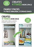 B&E Home Essential Vacuum Storage Bags - Set of 10 (2 Jumbo - 3 Large - 5 medium) - 72 Hours Extreme Value Buy