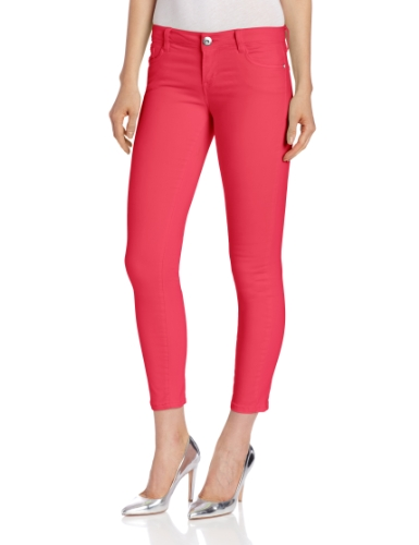 Kensie Jeans Women's Color Ankle Biter, Dragon Fruit, 31