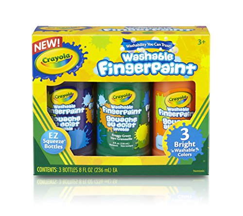 Crayola Washable Fingerpaint (Secondary), 3 Count/8-Ounce - 1