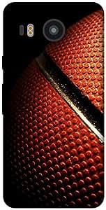 The Racoon Grip printed designer hard back mobile phone case cover for LG Nexus 5X. (basket bal)