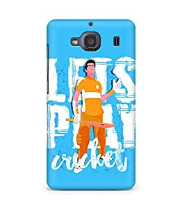 Amez designer printed 3d premium high quality back case cover for Xiaomi Redmi 2S (Lets Play Cricket)