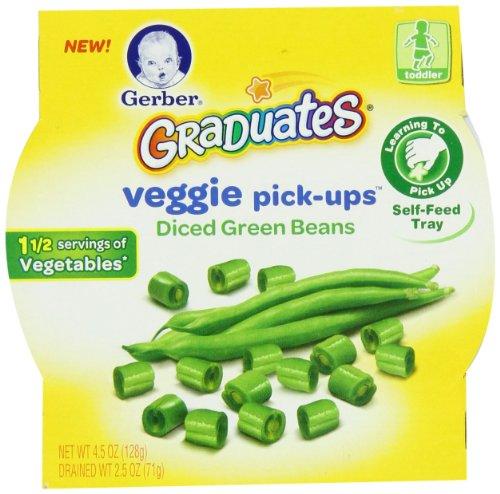 Gerber Graduates Veggie Pick-Ups - Green Bean,  4.5 Ounce (Pack of 8)