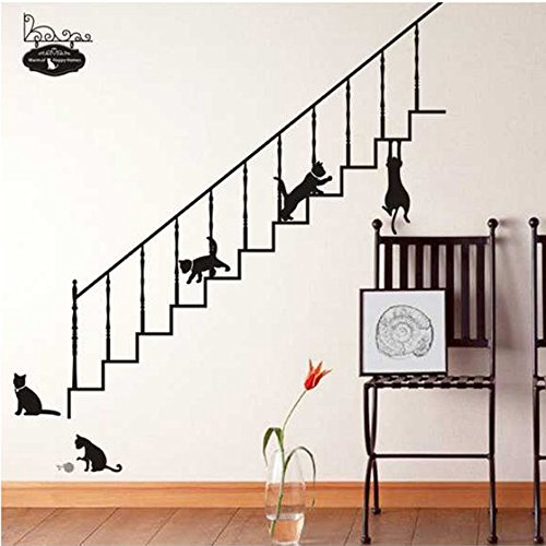 coffled-cats-ladder-wall-decal-stickerseasy-to-apply-and-removable-huge-size-vinyl-wall-decoration-f