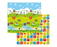 Baby Play Mat by Hape - Large Double Sided Soft Foam - Animal, Number and Letter Design for Learning by HAPE