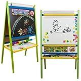Standkindertafel 116x66cm farbig Papierrolle Abakus Standtafel Kindertafel Magnettafel Maltafel