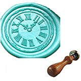 MDLG Custom Vintage Clock Cool Personalized Picture Letter Logo Retro Invitation Wax Seal Stamp Rosewood Handle Set