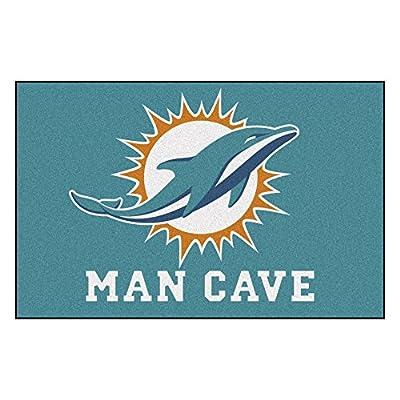 FANMATS 14325 NFL Miami Dolphins Nylon Universal Man Cave Starter Rug