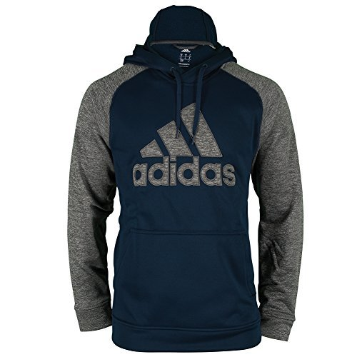 Adidas Essentials Mens Tech Fleece Training Hoodie XXL Navy-Dark Solar Grey