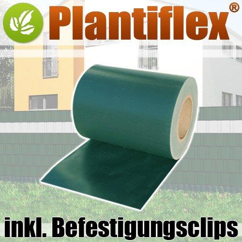 Sichtschutz Rolle blickdicht PVC Zaunfolie Windschutz 19cm x 35m 30 clips !!!