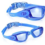 AEGEND Clear Swimming Goggles No Leaking Anti Fog UV Protection Triathlon Swim Goggles with Free Protection Case for Adult Men Women Youth Kids Child, Blue