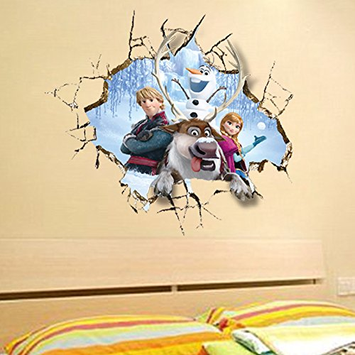 Clest F&H wall stickers Frozen Queen Elsa Adorable & Sweety wall Decal DIY Family Fashion Wall Decoration Sticker
