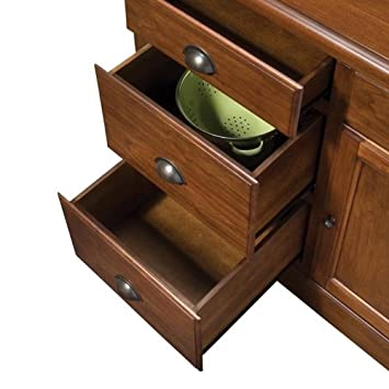 Awesome  just before acquire Home Styles Aspen Kitchen Island with Drop Leaf Granite Top and Two Stools Rustic Cherry Finish Home Styles