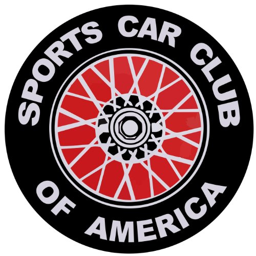 Amazon.com: Sports Car Club of America SCCA Logo Bumper Sticker Round