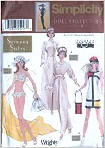 Simplicity 9913 Swinging Sixties For 11 5 Inch Fashion Dolls Patterns For 3 Outfits Doll