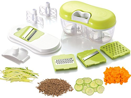 Brieftons QuickPull Food Chopper, Blender, Slicer & Grater: Twin Chopper / Blender with Mandoline Slicer & Grater (Rachel Ray Steamer Orange compare prices)