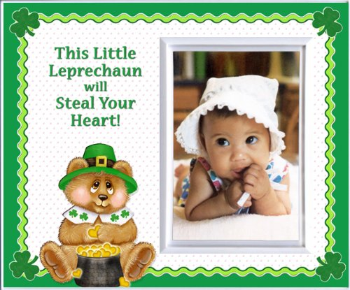 This Little Leprechaun St. Patrick's Day Picture Frame Gift and Decor - 1