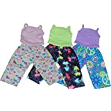 Cat Pattern Flannel and Tank doll clothes Pj's - Fits 18