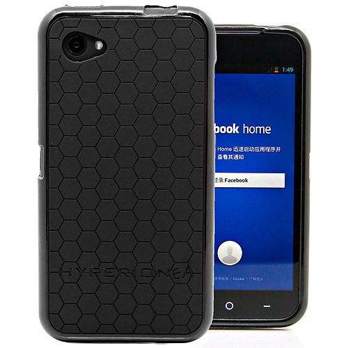 Hyperion HTC First HoneyComb Matte Flexible TPU Case & Screen Protector (Compatible with AT&T HTC First Facebook Home Phone) Hyperion Retail Packaging (Black)