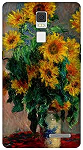 The Racoon Grip Bouquet of Sunflowers hard plastic printed back case / cover for Oppo R7 Plus