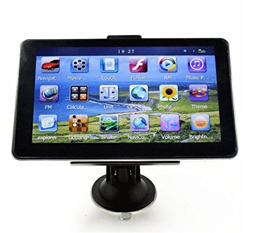 "SoLed 7"" HD Car GPS Navigation 4G 128M Touch Screen Multimedia Player Free Map Update"