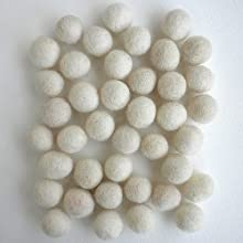 Felted Wool Bead 40 Piece Color Packs- 40 Cream