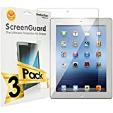 KlearCut [3 Pack] - Screen Protector for Apple iPad 2 / 3 / 4 - Lifetime Replacement Warranty Anti-Bubble & Anti-Fingerprint High Definition (HD) Clear Premium PET Cover - Retail Packaging