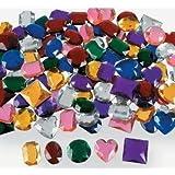 "Jumbo 1"" Assorted Adhesive Jewels 100 pcs"