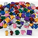"Jumbo 1"" Assorted Adhesive Jewels 100 pcs"
