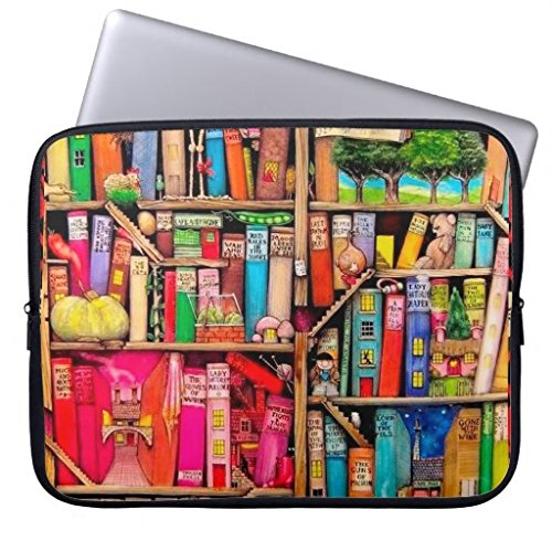 "Elonbo TM Fashion Cute Colorful Books Neoprene Laptop Soft Sleeve Case Bag Pouch Cover for 13"" Macbook Pro / Air HP Dell Acer"