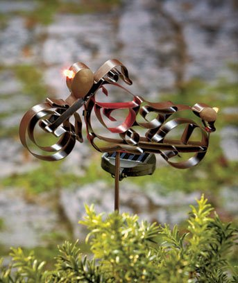 SOLAR MOTORCYCLE STAKE - Show Your Outdoor Decor Is Born To Ride