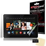 "[3 Pack] TECHGEAR® Amazon Kindle Fire HDX 7"" 7.0 inch CLEAR LCD Screen Protectors With Cleaning Cloth + Application Card (3rd Generation tablet)"