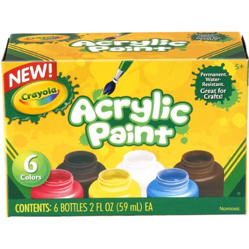 Crayola Acrylic Paint Set, 2-Ounce, 6 Count