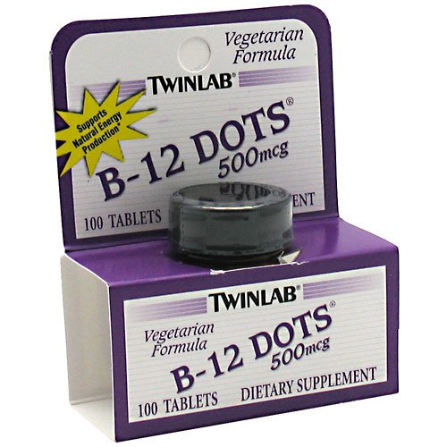Twinlab B-12 Dots 100 Tabs Vitamin Dietary Supplement