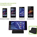 VicTsing� Black Magnetic Desktop Charger Data Sync Charging Dock Stand Docking Station Holder Cradle for Sony Xperia Z2, Xperia Z1 L39h, Xperia Z Ultra XL39h, Xperia Z L36h, Z1 Mini and other Sony Smartphones