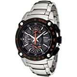 Seiko Gents Sportura Double Retrograde Chronograph Bracelet Watch SPC039P1