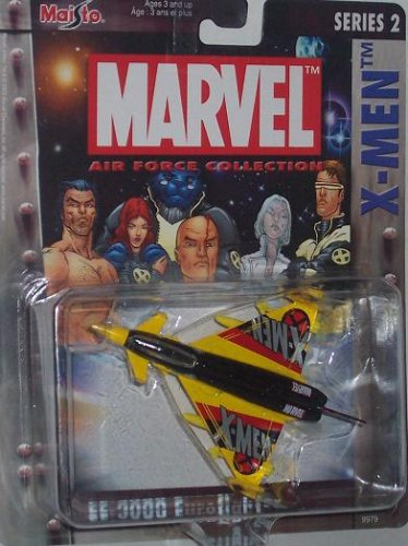 Maisto Ultimate Marvel Air Force Xmen EF-2000 Eurofighter Airplane Diecast X-Men Plane - 1