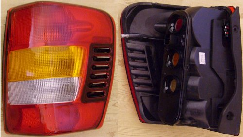 2003-2004 Jeep Grand Cherokee Right Side Rear Only -- Rear Tail Lamp Light FROM 08/02,W/O PAINTING, replaces OEM 55155138AH Interchange 166-2053 Partslink CH2801150