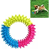 Futaba Mixed Color Embossment Spinose Ring Teeth Chew Training Toy