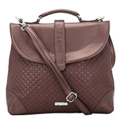 Beau Design Womens Satchel Brown Bdsl015-03A