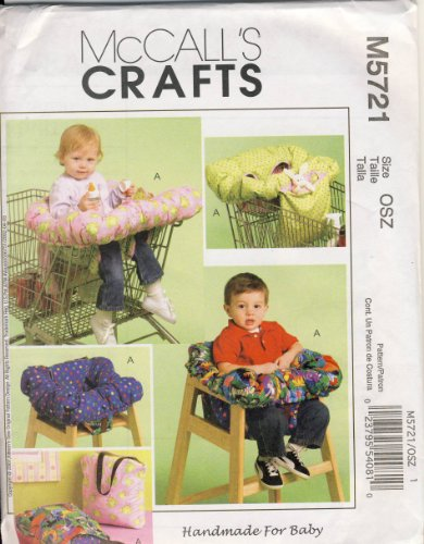 Mccall Crafts Sewing Pattern 5721 - Use To Make - 3-In-1 Shopping Cart Cover In 2 Sizes - And Fits Restaurant High Chairs front-964949