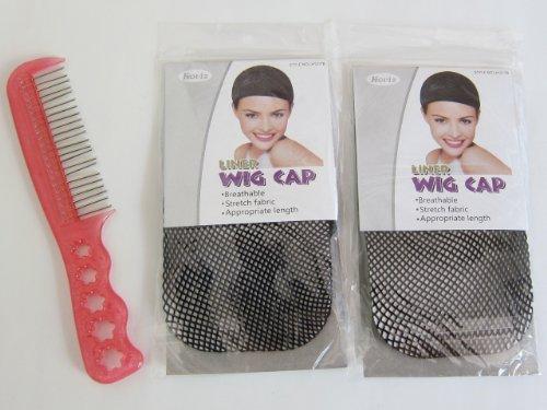 ウィッグ用 静電気防止 ウィッグケア用 クシ 1枚 + ウィッグ用ヘアネット 2個 セット