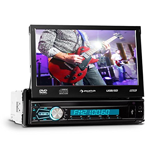 auna-DTA80BT-Moniceiver-Touchscreen-Autoradio-mit-Bildschirm-Monitor-Front-AV-DVD-Player-Eingang-Video-Eingang-fr-Rckfahrkamera-178cm-7-Zoll-groes-Display-Bluetooth-MP3-fhiger-USB-Slot-SD-Speicherslot
