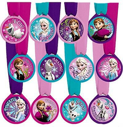 Disney Frozen Mini Award Medals - 12 ct