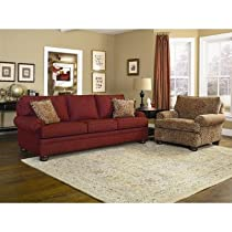 Hot Sale Charles Schneider Fischer Crimson Fabric Sofa with Accent Pillows