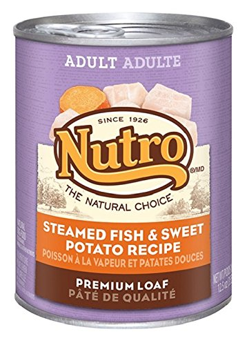NUTRO Adult Steamed Fish and Sweet Potato Canned Dog Food, 12.5 oz. (Pack of 12) (Fish Potato compare prices)