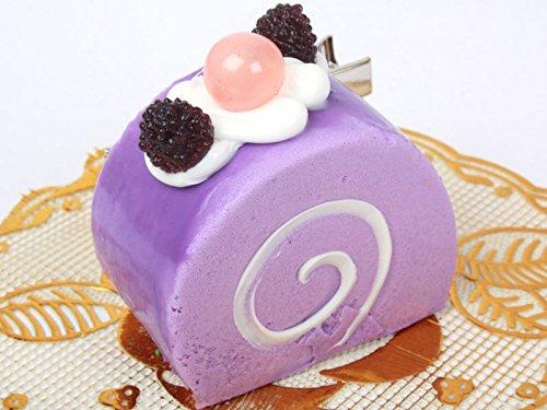 ロールケーキ型 ヘアピン 子ども パープル スイートティーブレイク