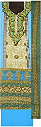 Maria Collection Women's Unstitched Dress Material (Turquoise)